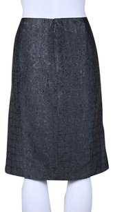 Worth Womens Above Knee Straight Skirt Gray / Silver