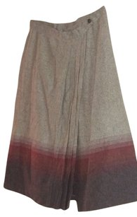 Worthington Skirt grey, burgundy and off white