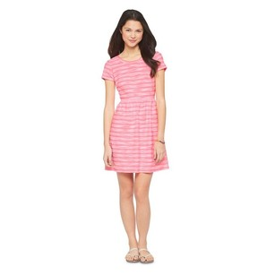 Xhilaration short dress HOT PINK STRIPED on Tradesy