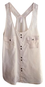 Xhilaration Racerback Buttons Pockets Sheer Top cream