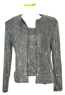 Xscape Black Green Glitter Sweater