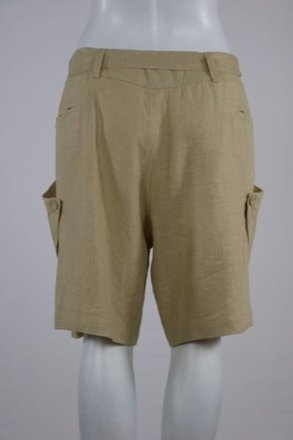 Ya Los Angeles Ya Womens Beige Dress Shorts Linen Casual Career 70%OFF