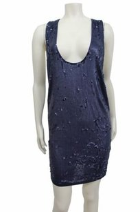 YaYa Aflalo short dress Navy Racerback on Tradesy