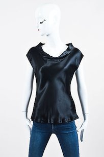 Yigal Azroul Azrouel Silk Satin Top Black