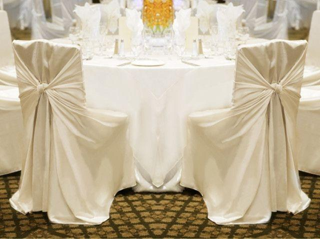 Your Choice 100 Ivory Universal Chair Covers Reception Decoration ...