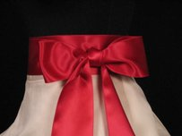 Cranberry Red Ribbon Sash 2 3/4