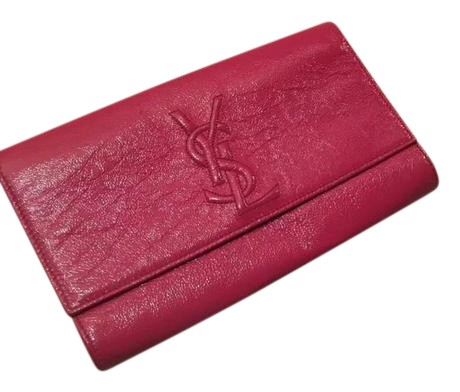 ysl clutch patent leather