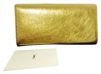 Saint Laurent New Authentic YSL Yves Saint Laurent Belle De Jour Flap Leather Wallet 2015