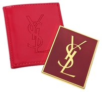 Yves Saint Laurent YSL YVES SAINT LAURENT VIP RED MIRROR RED LOGO POUCH