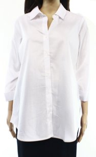 Zac & Rachel 3/4 Sleeve Button Down Shirt Top