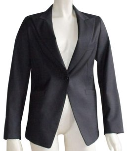Zanella Wool Blend Fully Lined Single Button Hs790 Black Jacket