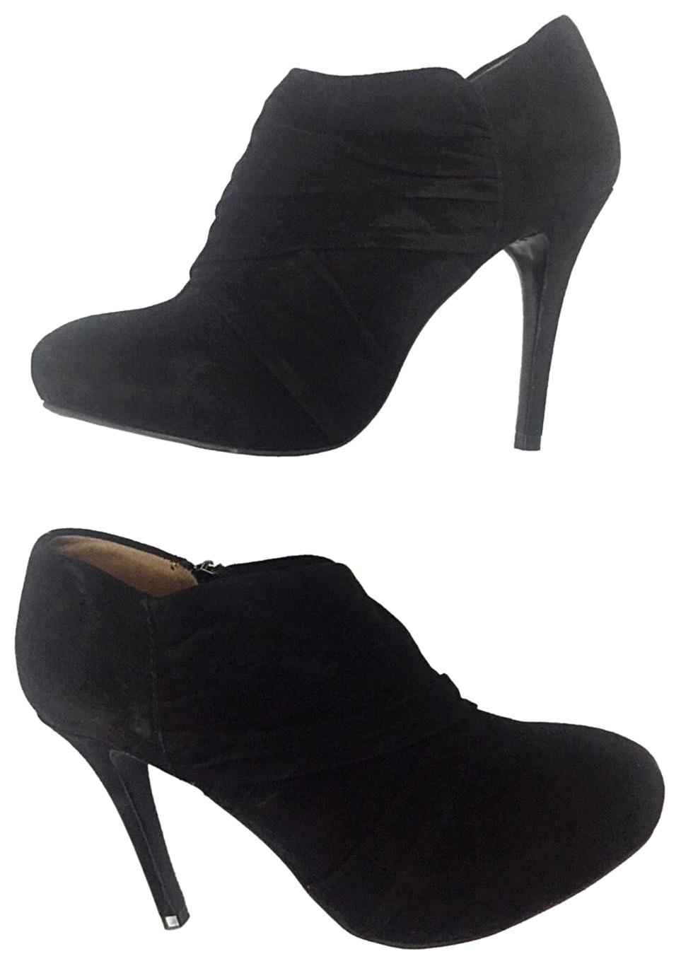 d6e56ef0572 Zara Black Black Black Ruched Suede Boots Booties Size EU 40 (Approx. US  10) Regular (M