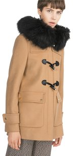Zara Duffle Wool Fur Winter Pea Coat