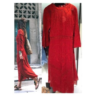 Red Maxi Dress by Zara