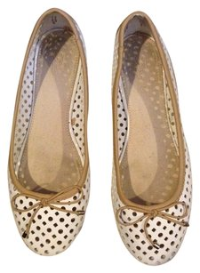 Zara Perforated Round Toe WHITE PERFORATED Flats