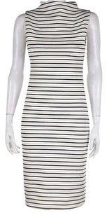 Zara Knit Womens Striped Below Knee Casual Sleeveless Dress