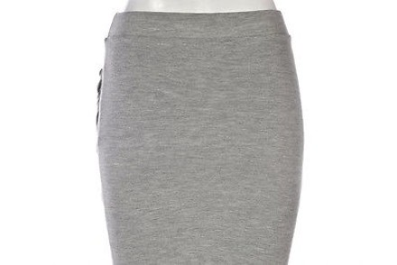 8ffa97e1 free shipping Zara Trafaluc Womens Gray Straight Skirt Speckled Above Knee  Cotton