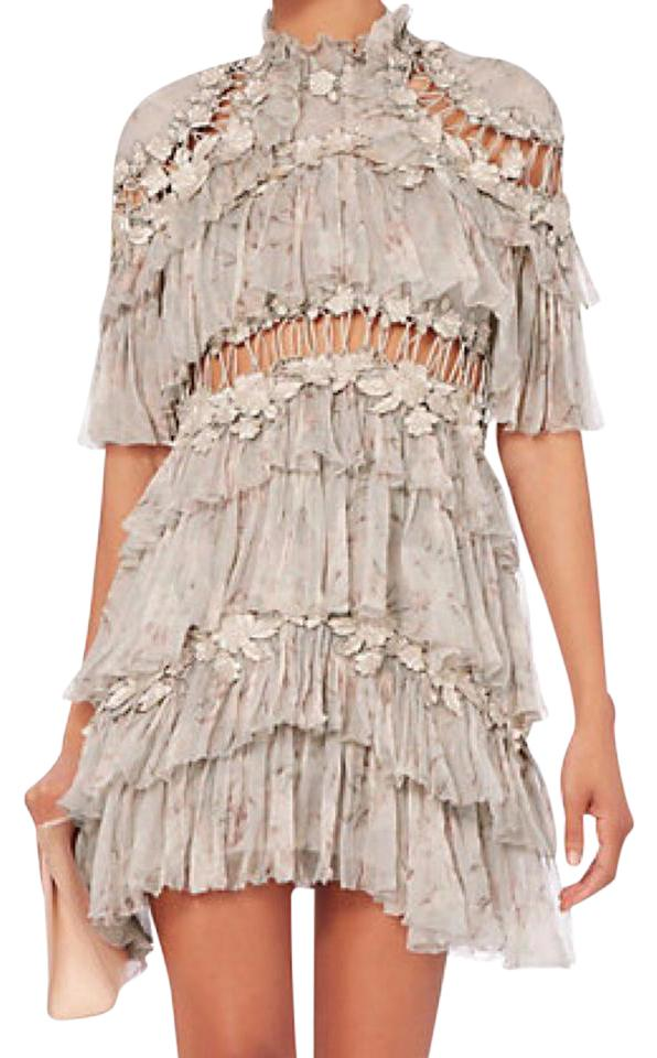 ZIMMERMANN short dress Taupe on Tradesy ...